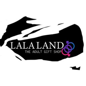 lala land logo scribble white